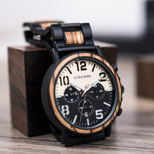 Load image into Gallery viewer, BOBO BIRD'S Wooden Men's Stainless Steel Watch
