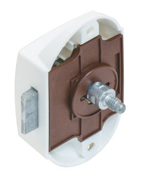 Lock Bolt Push One-Sided Plastic White
