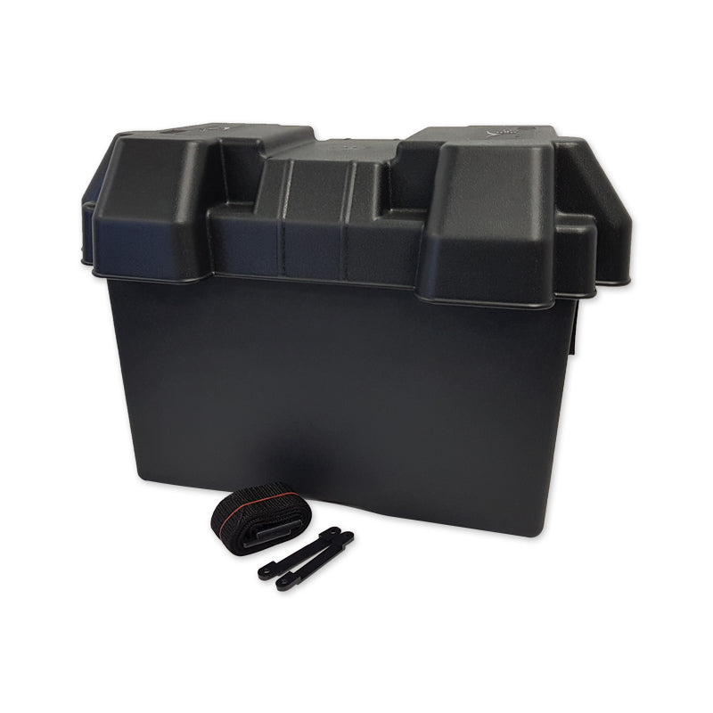 Black Battery Box with Lid & Strap