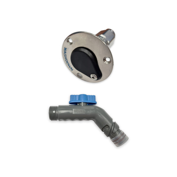 Jabsco Deckwash Connector and Tap