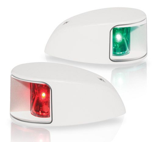 Light Nav led Deckmount Port/Stbd Wht