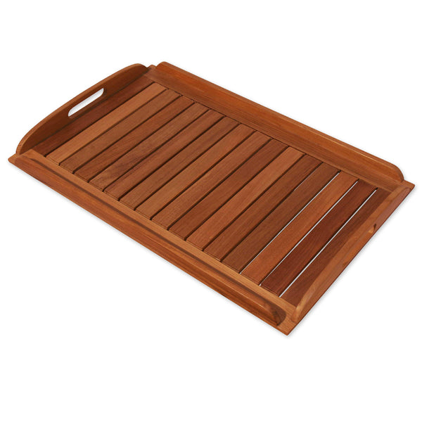 Teak Tray Natural 58x38cm