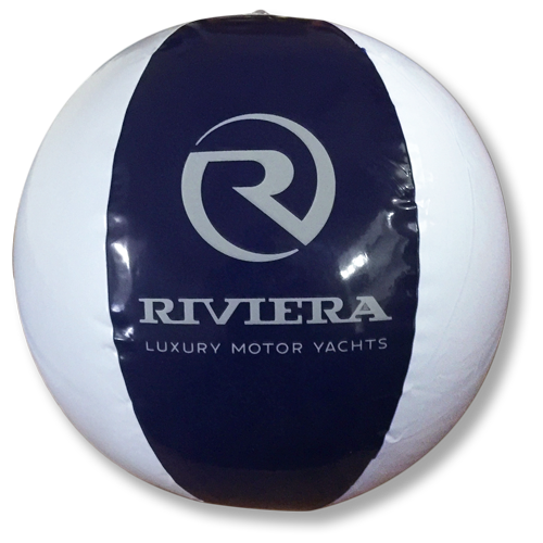 Beach Ball - Riviera - Navy / White