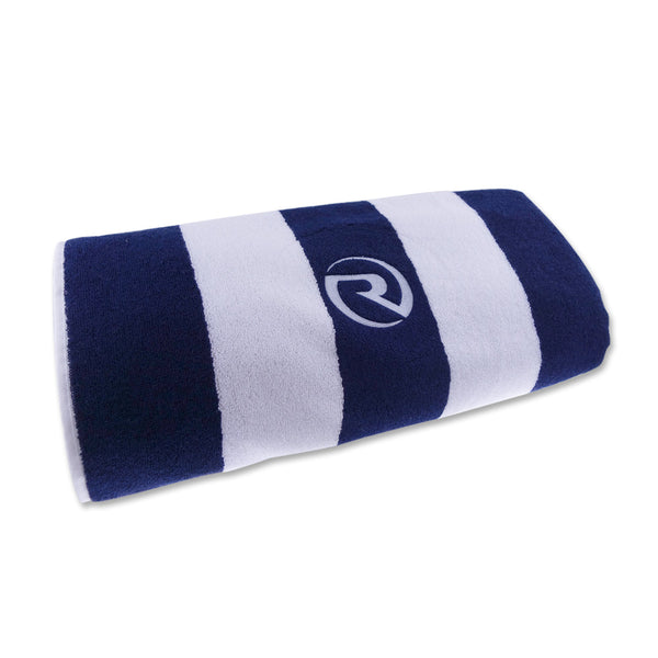 Riviera Beach Towel - Navy/ White