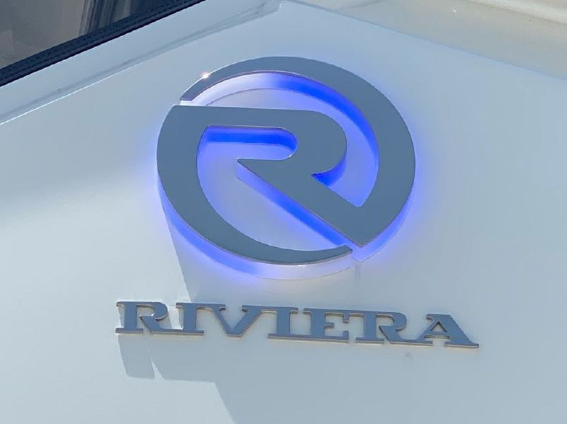 Riviera Blue Backlit Sign