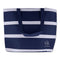 Riviera Cooler Bag Navy/White Stripe