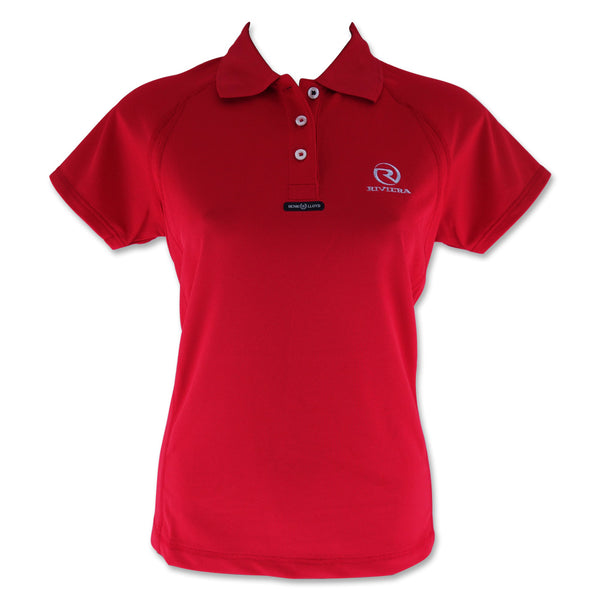 Ladies Fast Dri Polo - Red