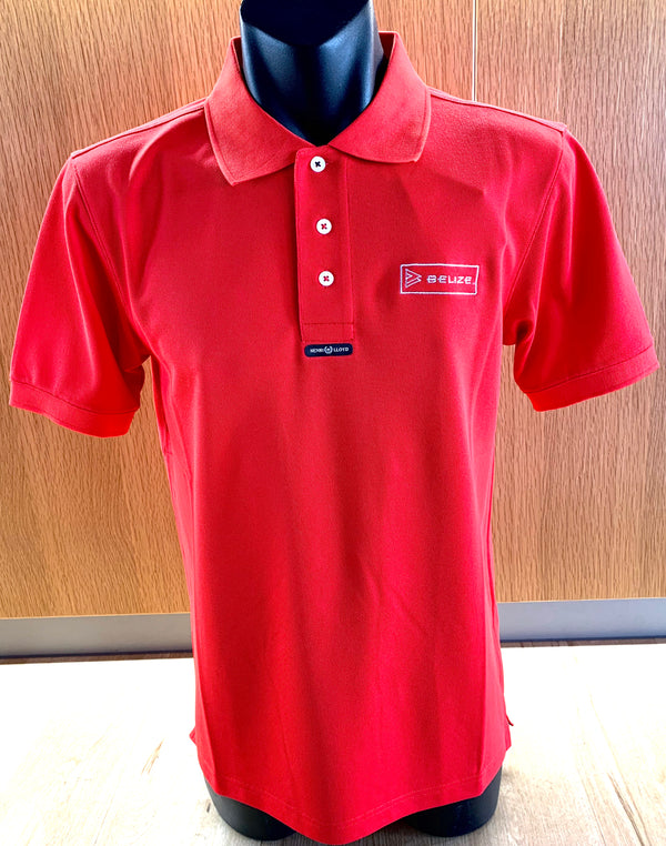 Belize Mens Fast Dri Polo Red