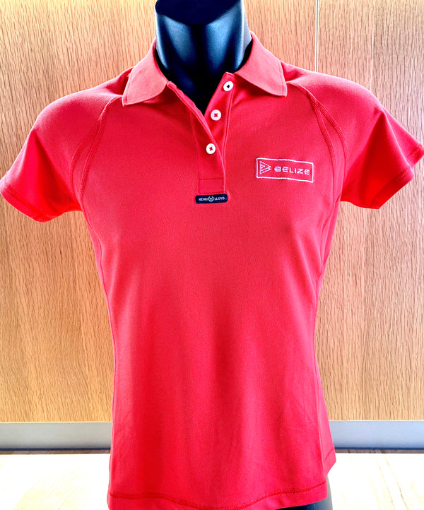 Belize Ladies Fast Dri Polo Red