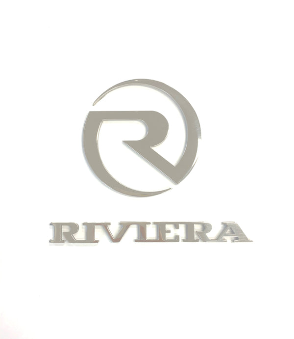 "Stainless Steel ""R"" & ""Riviera"" Logo"