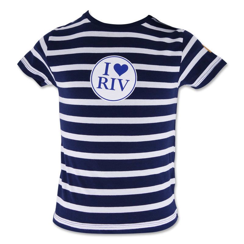 Boys Tee - Navy Stripe I love RIV