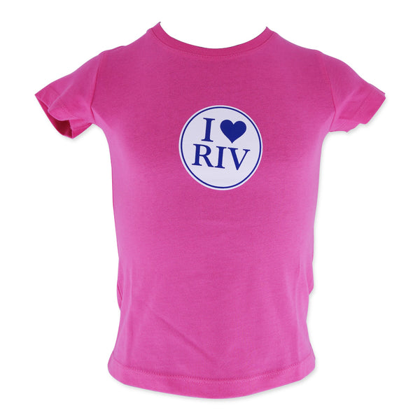 Girls Tee - Pink I Love Riv