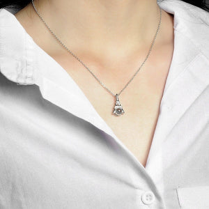 "100 Languages ""I Love You"" Eiffel Tower Necklace"