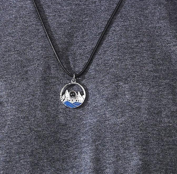 "100 Languages ""I Love You"" Rocky Mountain Necklace"