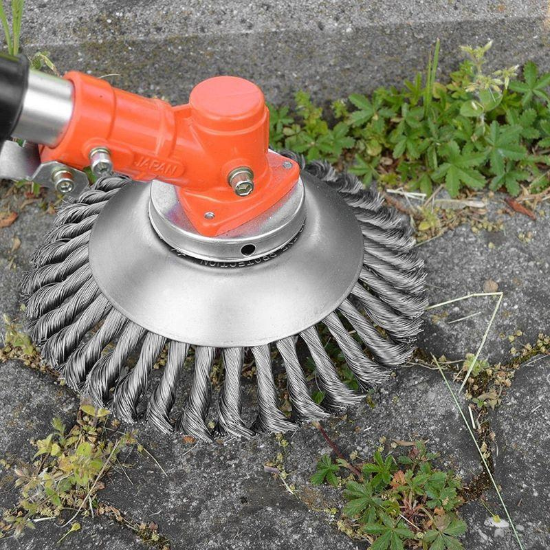 Steel Brush Lawn Trimmer Attachment