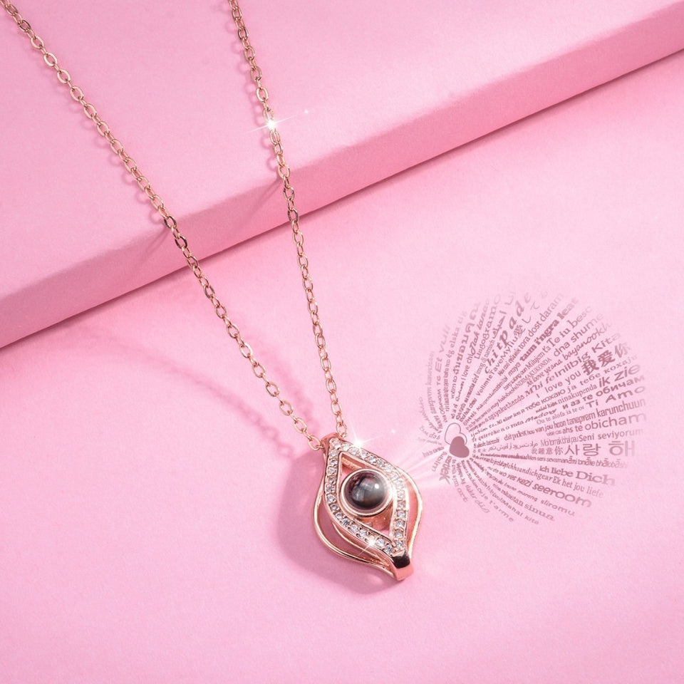 "100 Languages ""I Love You"" Infinity Pendant"
