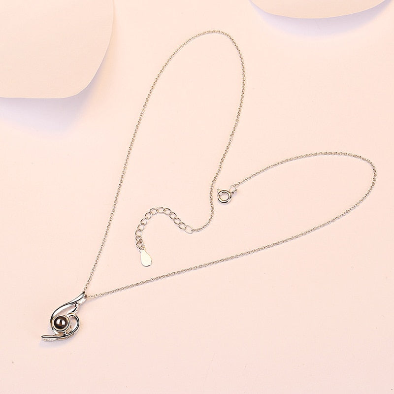 "100 Languages ""I Love You"" Wave Pendant Necklace"