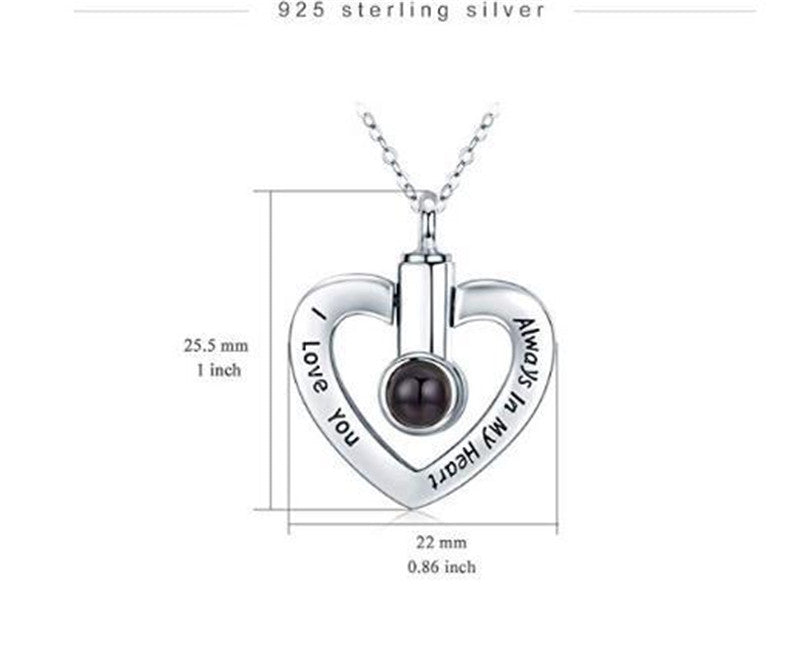 "100 Languages ""I Love You"" Urn Necklace"
