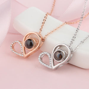 "100 Languages ""I Love You"" Two Hearts Pendant"