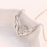 "100 Languages ""I Love You"" Angel Wings Necklace"