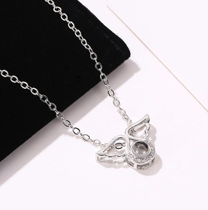 "100 Languages ""I Love You"" Guardian Angel Pendant"