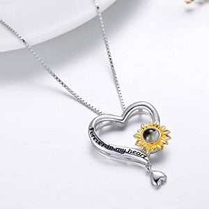 "100 Languages ""I Love You"" Sunflower Pendant"