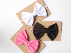 Jersey Bow on Nylon Headband