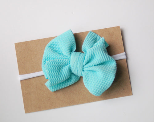 Messy Bow on Nylon Headband