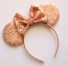 Load image into Gallery viewer, Rose Gold Mouse Ear Headband