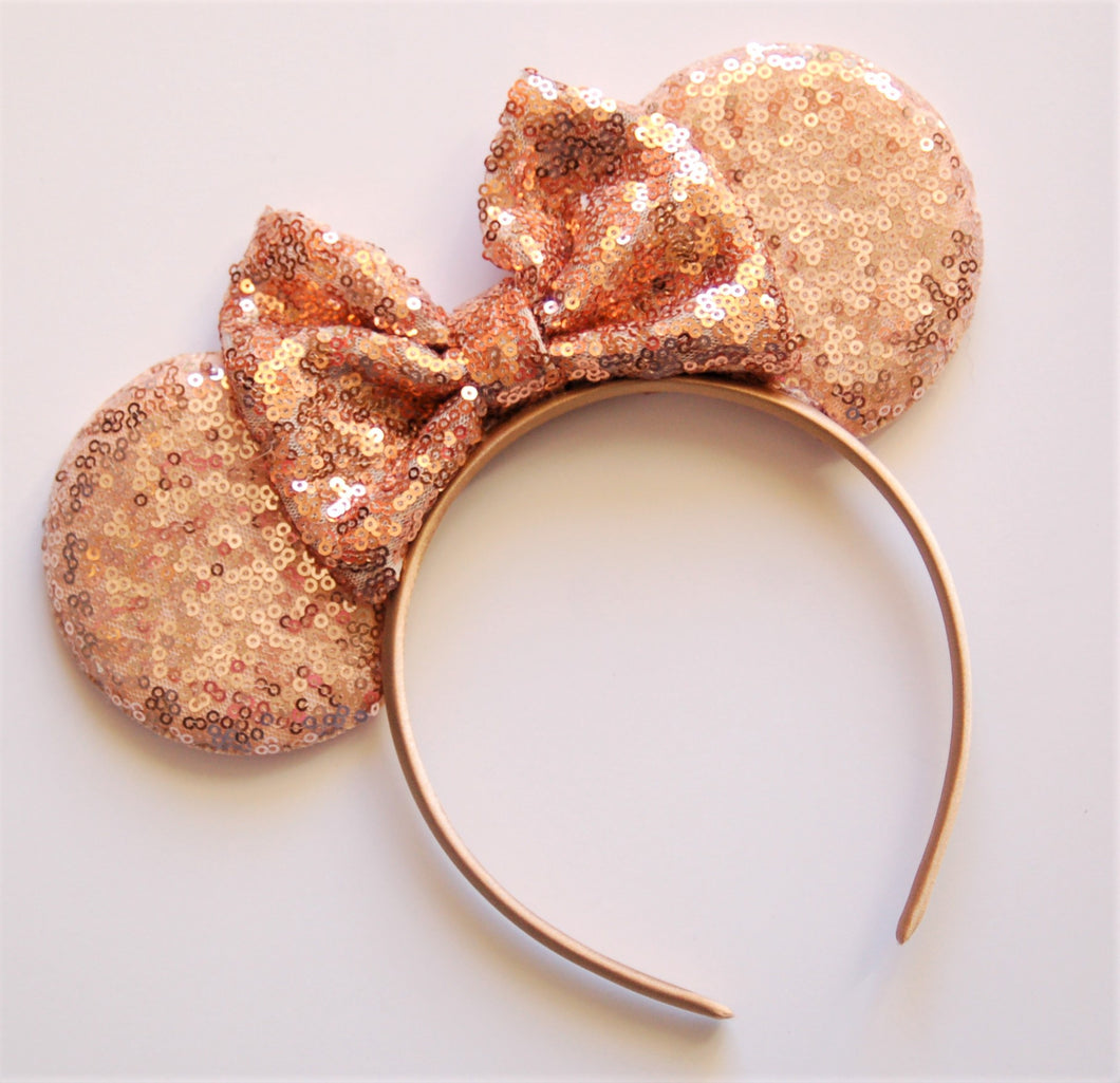 Rose Gold Mouse Ear Headband