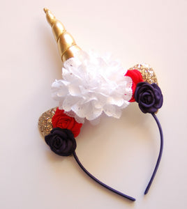 Red, White, & Blue  Unicorn Headband