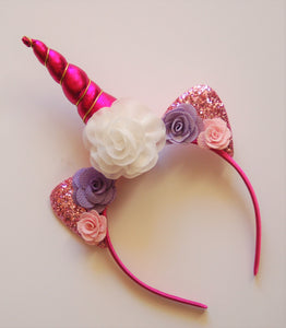 Pink, white & Purple Unicorn Headband