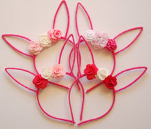 Load image into Gallery viewer, Pink Bunny Ear Headband