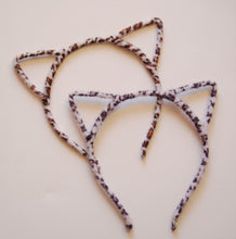 Load image into Gallery viewer, Leopard Cat Ear Headband