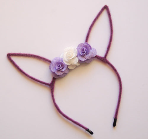 Purple Bunny Ear Headband