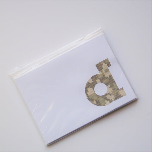Camo note cards