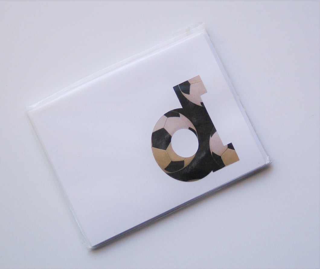 Soccer note cards