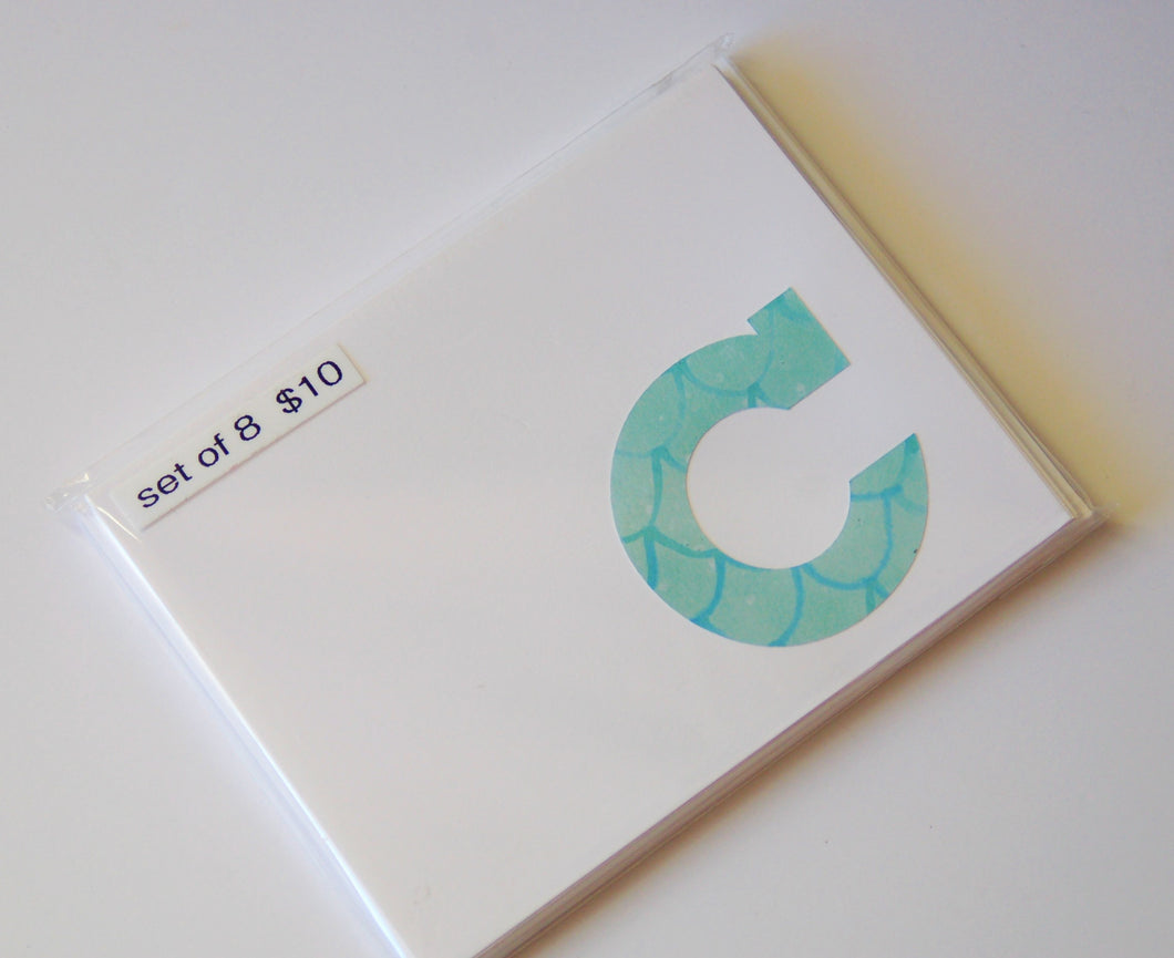 Letter C note cards