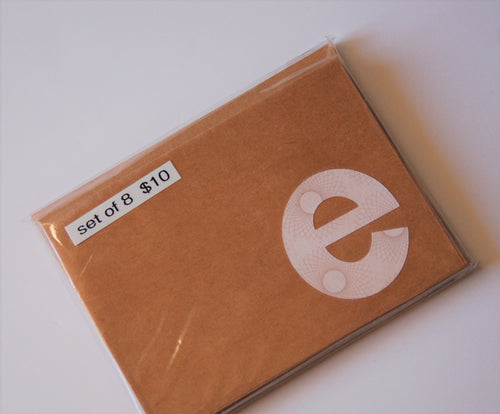 Letter E note cards