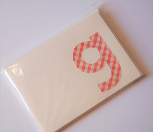 Letter G note cards