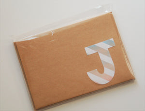 Letter J note cards