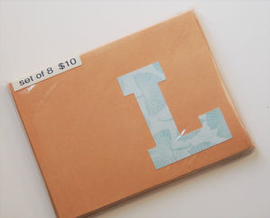 Letter L note cards