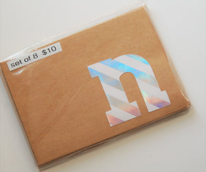Letter N note cards