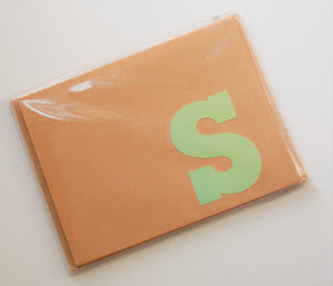Letter S note cards
