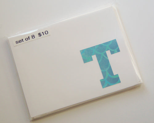 Letter T note cards
