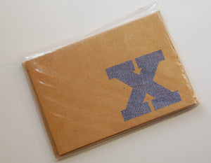 Letter X note cards