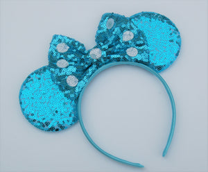 Polka Dot Bow Mouse Ear Headband