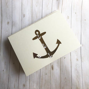Gold anchor note cards