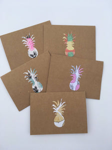 Pineapple note cards