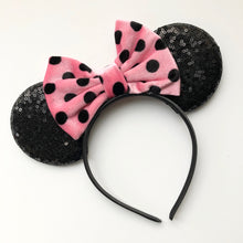 Load image into Gallery viewer, Polka Dot Mouse Ear Headband